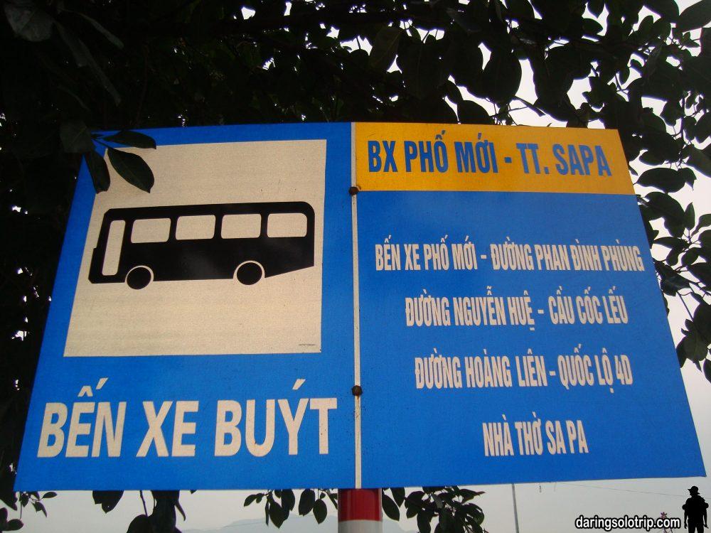 Xe Bus Bến xe Phố mới - TT. Sa Pa, có đi ngang qua chợ Cốc Lếu